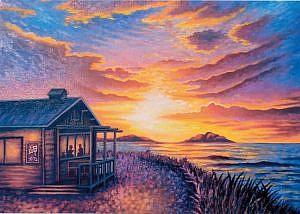 海と花の絵画展