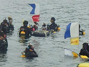 沖ノ島海底清掃