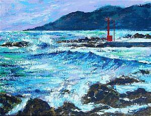 江見漁港の赤灯