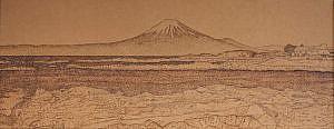 平井作品_西川名より富士山を望む